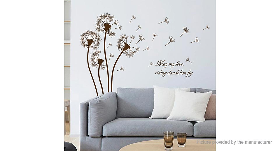 Dandelion Styled Removable Wall Sticker Home Decor