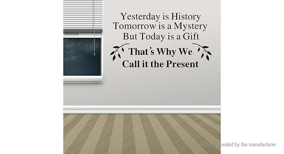 Yesterday is History Styled Removable Wall Sticker Home Decor