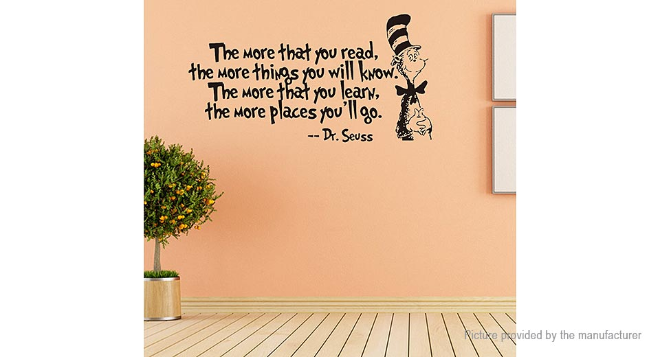 The More That You Read Styled Removable Wall Sticker Home Decor
