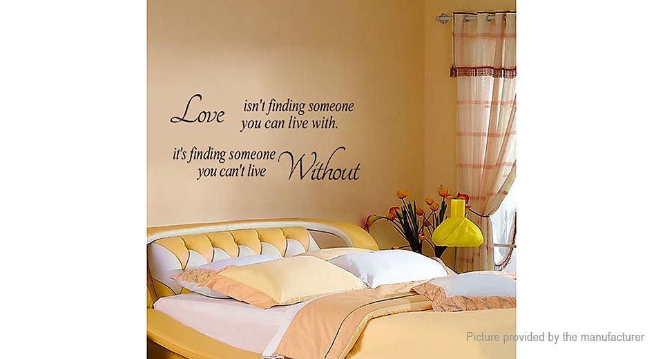 Love isn't Finding Styled Removable Wall Sticker Home Decor