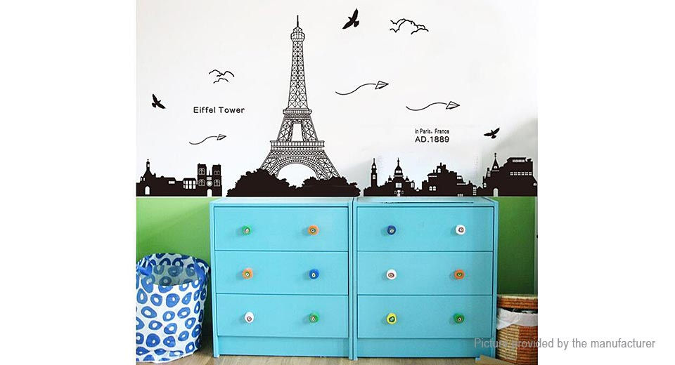 Eiffel Tower Styled Removable Wall Sticker Home Decor