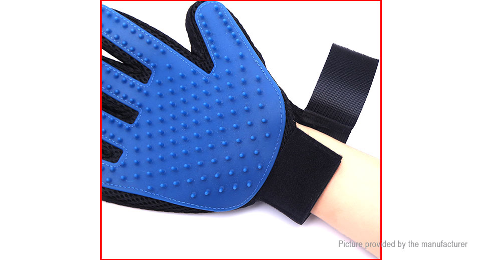 Pet Dog Cat Grooming Deshedding Glove Bath Massage Tool (Right Hand)