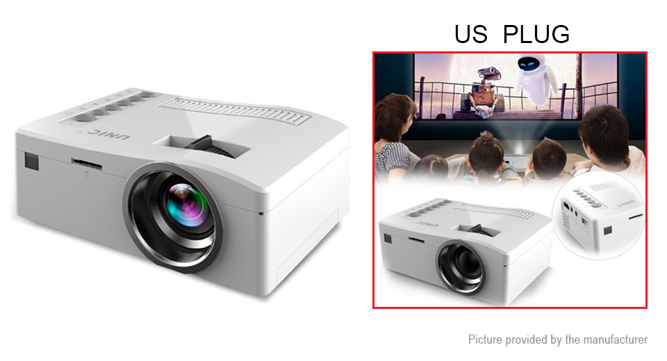 $23.69 Authentic UNIC UC18 1080p Full HD Mini Portable LED Projector (US) - 12LM / 1920*1080 resolution / 350:1 ratio / manual/remote control / supports microSD card at FastTech - Great Gadgets, Great Prices