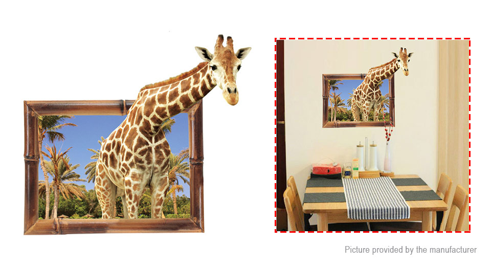 3D Giraffe Styled Removable Wall Sticker Home Decor