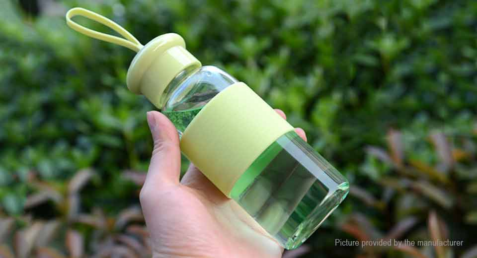 Outdoor Sports Glass Water Bottle (360ml)