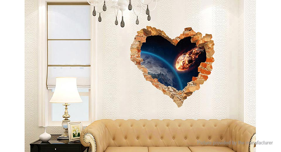3D Meteorite Styled Removable Wall Sticker Home Decor