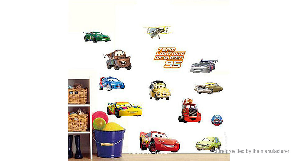 Cartoon Cars Styled Removable Wall Sticker Home Decor