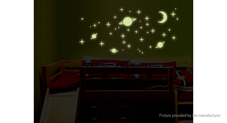 Space Styled Glow-in-the-Dark Removable Wall Sticker Home Decor
