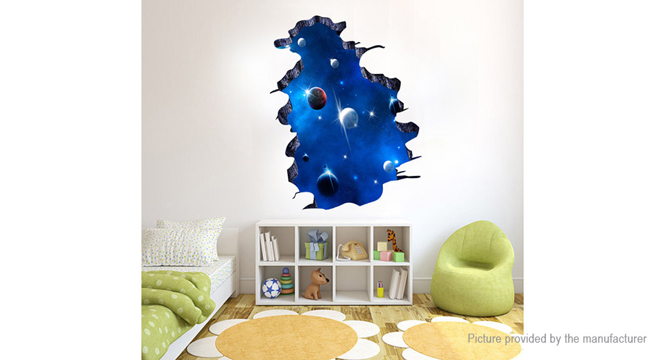 3D Galaxy Styled Removable Wall Sticker Home Decor