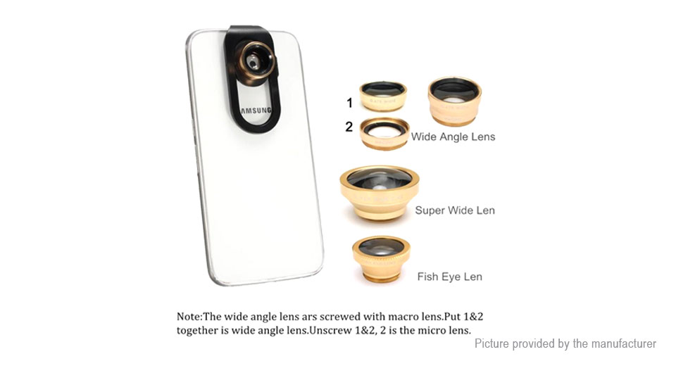 4-in-1 Universal Clip-On Phone Camera Lens Kit for Smartphones