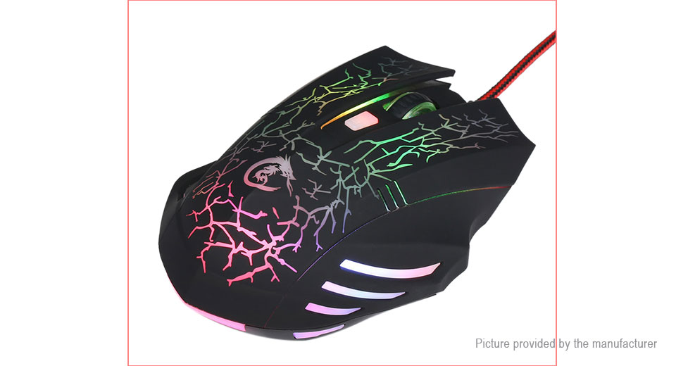 HXSJ A904 Crack Styled USB Wired Optical Gaming Mouse