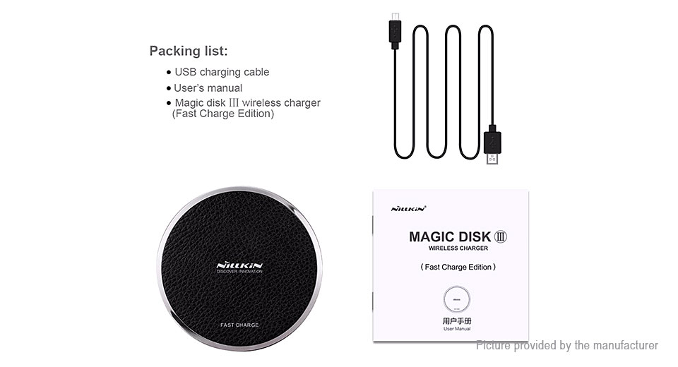Nillkin Magic Disk III Qi Inductive Wireless Charging Pad Transmitter