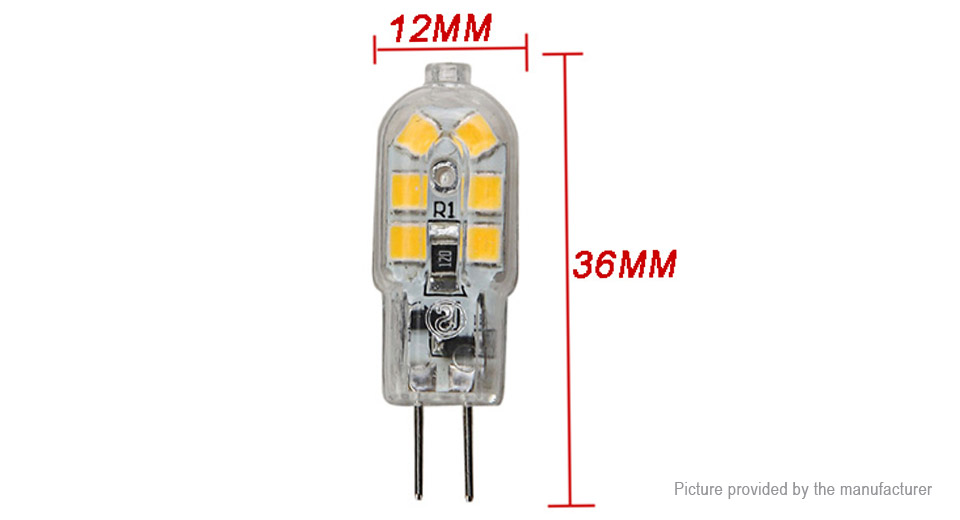 G4 1.5W 12*2835 140LM 2700-3200K Warm White LED Corn Light