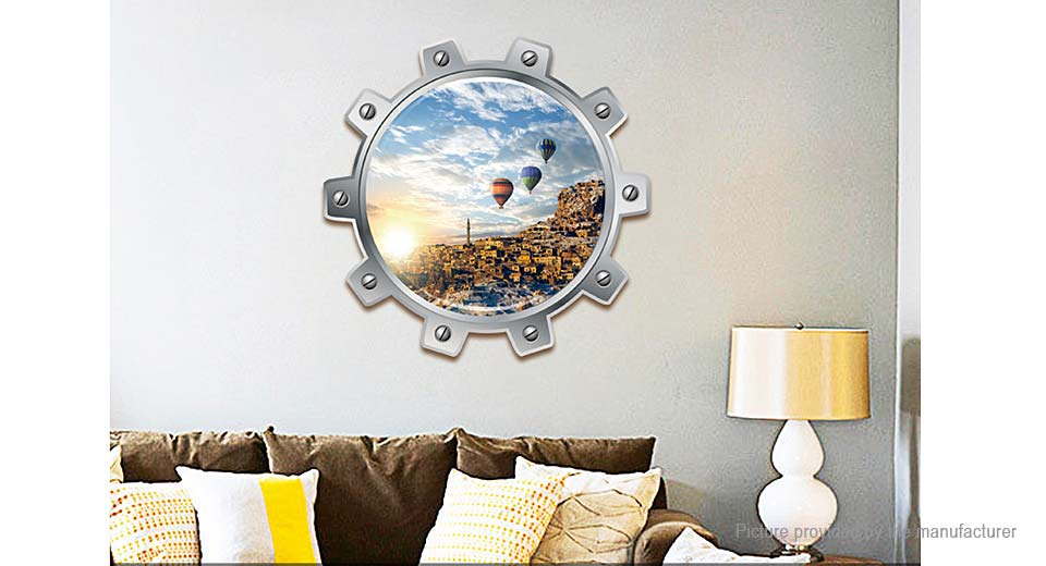 3D Hot-air Balloon Styled Removable Wall Sticker Home Decor