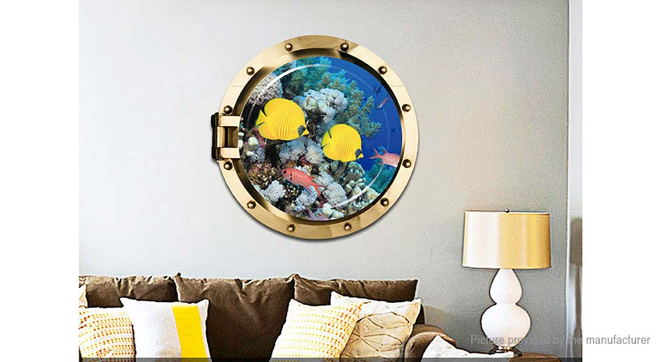 3D Deep Sea Yellow Croaker Styled Removable Wall Sticker Home Decor