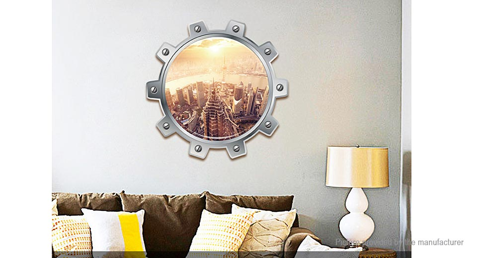 3D Urban Landscape Styled Removable Wall Sticker Home Decor