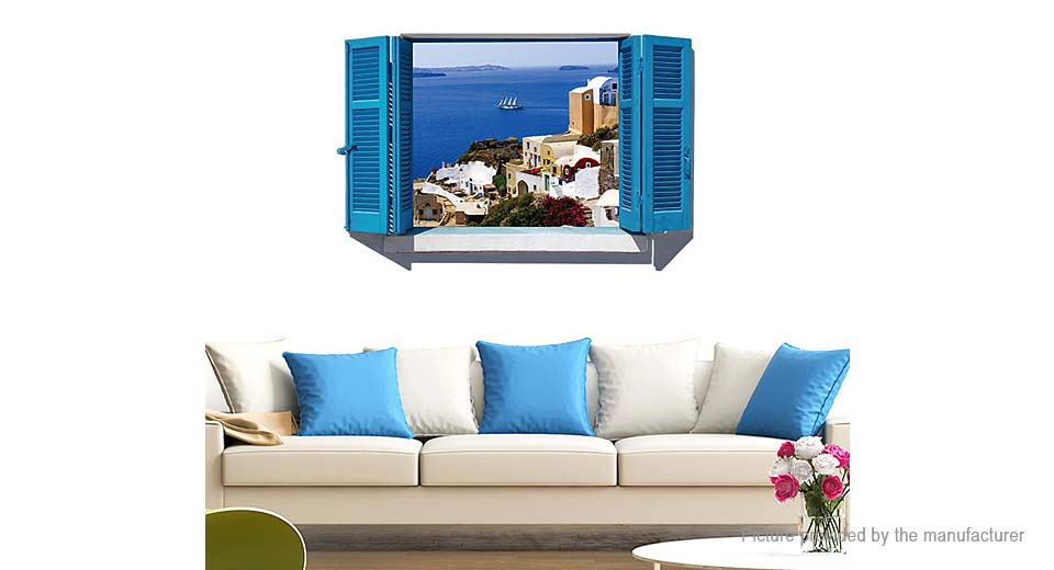 3D Window Scenery Styled Removable Wall Sticker Home Decor