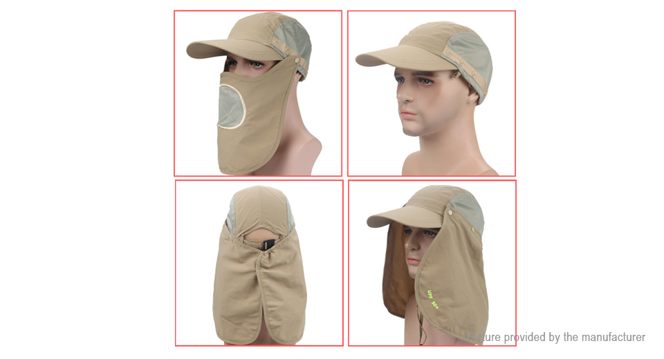Unisex Outdoor Protection UV-proof Windproof Fishing Cap Neck Face Flap Hat