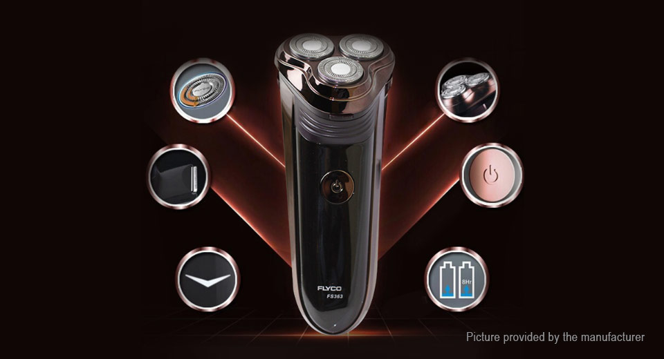 FLYCO FS363 Rechargeable Electronic 3-Head Rotary Shaver