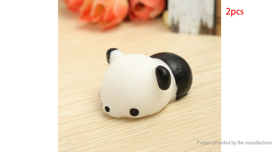 Squishy Nose :   USD1.58 Panda Squishy Squeeze Cute Healing Toy Kawaii Collection Stress Reliever Gift (2-Pack ...