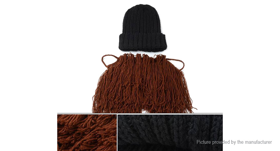 Kids' Unisex Winter Warm Knit Beard Mustache Beanie Hat