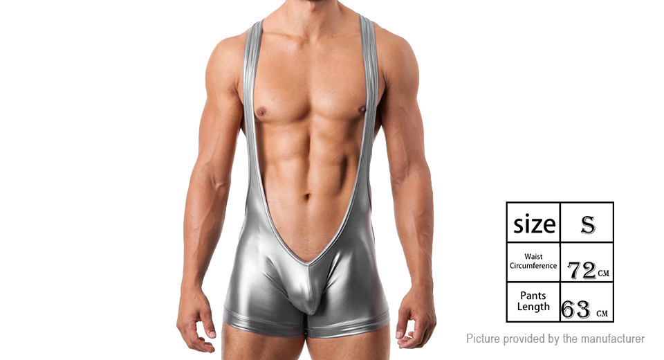 Product Image: men-s-sexy-faux-leather-underwear-bodysuit-boxer