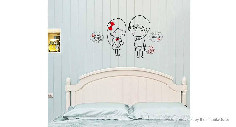 Sweet Couples Styled Removable Wall Sticker Valentine's Day Home Decor
