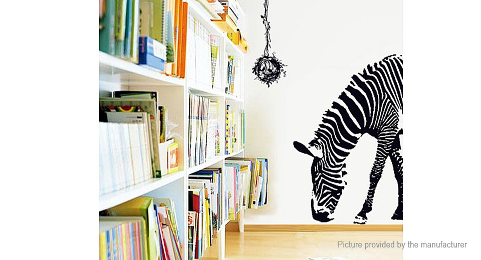 Stylish Letters and Zebra Styled Removable Wall Sticker Home Decor