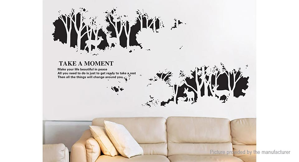 Forest Fawn Deer Styled Removable Wall Sticker Home Decor