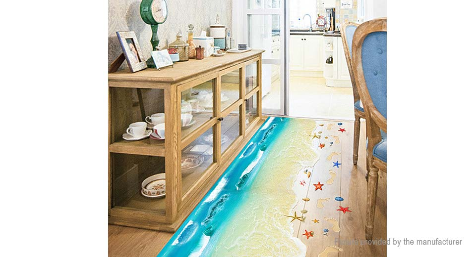 3D Chic Beach Styled Removable Floor Sticker Home Decor