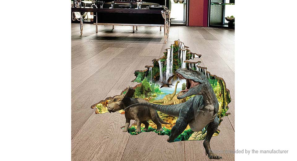 3D Dinosaur Styled Removable Wall Floor Sticker Home Decor