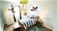 Creative Zebra Styled Chandelier Ceiling Light Lamp Cartoon Children Lamp