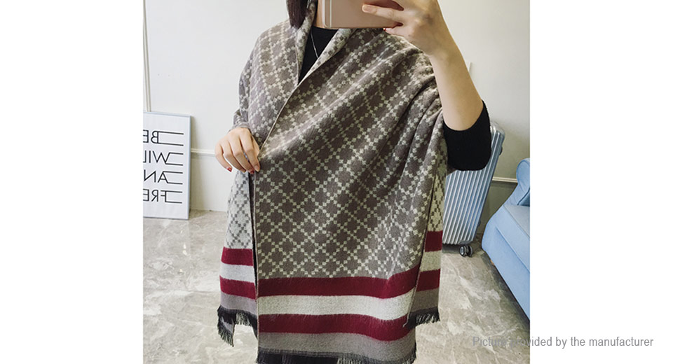 Book Cover Pattern Wool Cashmere Poncho : Women poncho prorsum cashmere wool scarf monogramed