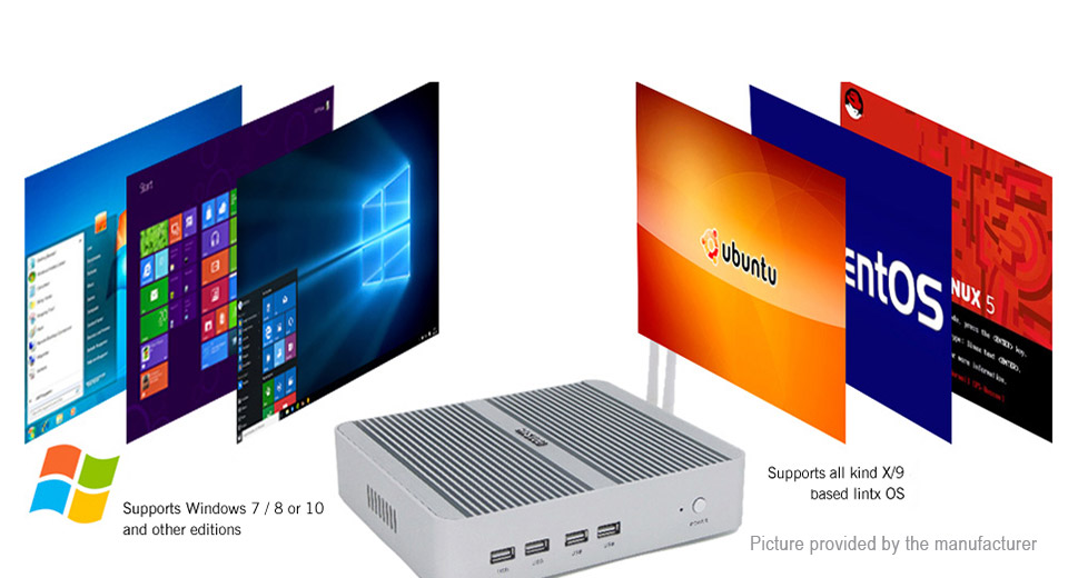 HYSTOU FMP03B-i3-7100U Dual-Core Mini PC (256GB/EU)