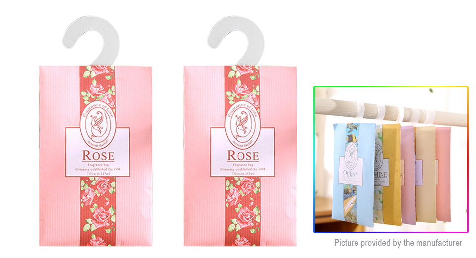 Home Drawers Closets Cupboards Hanging Scented Sachet (Rose / 2- Pack)