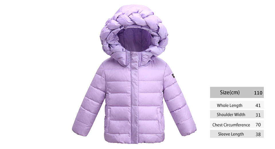 shoes for cheap most fashionable sale retailer Little Girl's Winter Warm Hooded Zip Up Puffer Coat Down Jacket (110cm)