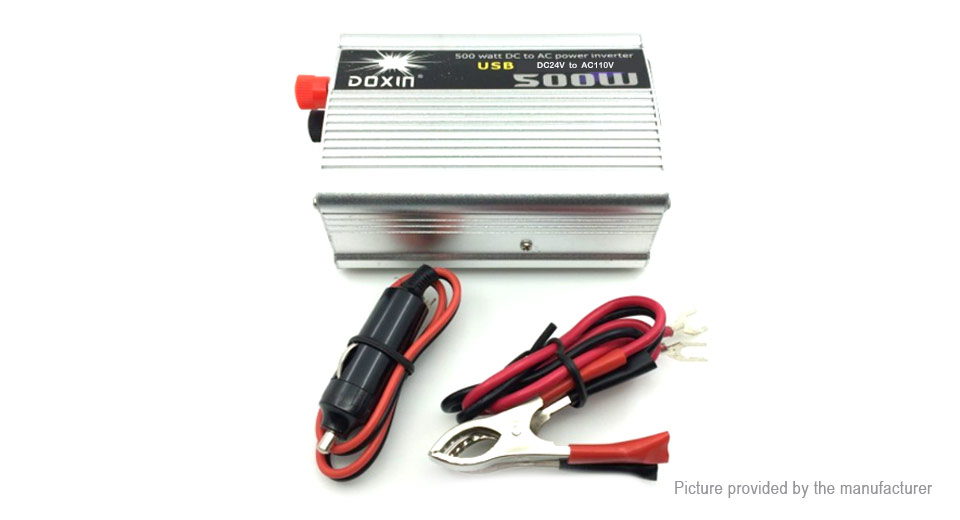 Product Image: doxin-500w-car-dc-24v-to-ac-110v-power-inverter