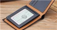 Men's PU Leather Embossed Bifold Wallet Business ID Credit Card Holder