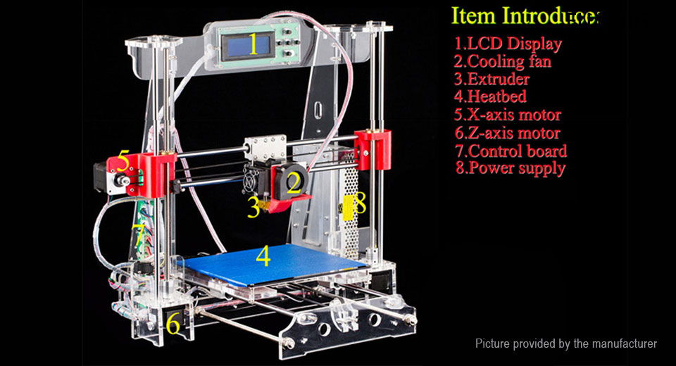 6906705 2 $151 95 authentic tronxy acrylic 3dcstar p802 mhs 3d printer kit  at soozxer.org