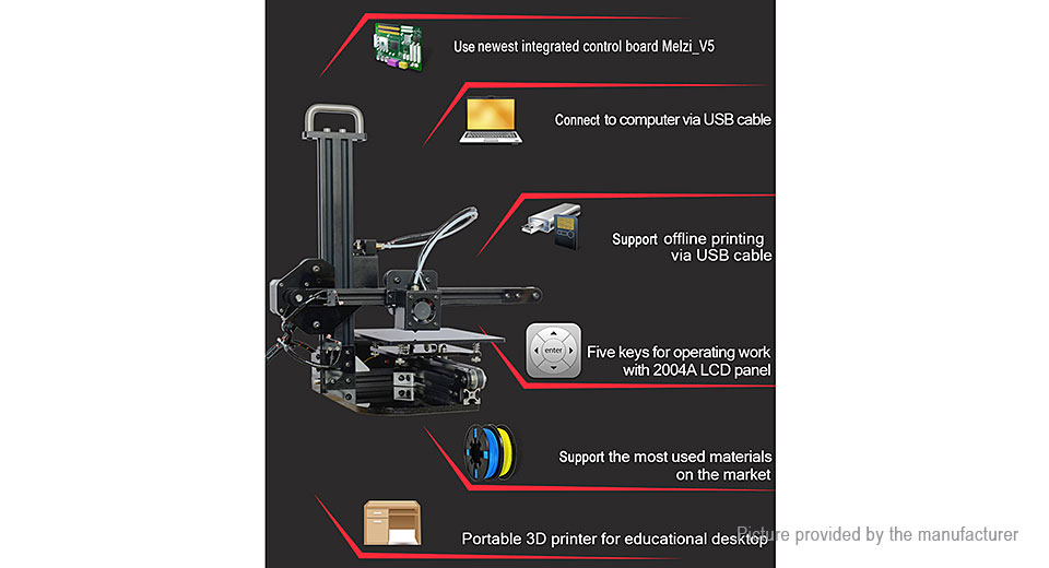 6914003 7 $139 95 authentic tronxy x1 desktop 3d printer (au) support sd  at soozxer.org