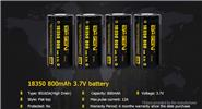 Authentic BASEN IMR 18350 3.7V 800mAh Rechargeable Li-ion Battery (4-Pack)