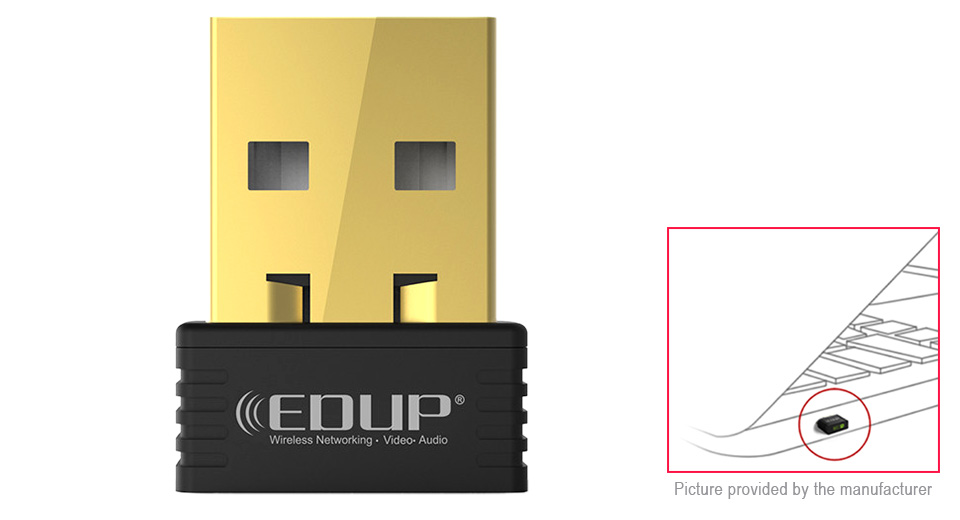 Product Image: edup-ep-n8553-2-4ghz-150mbps-usb-wireless-lan