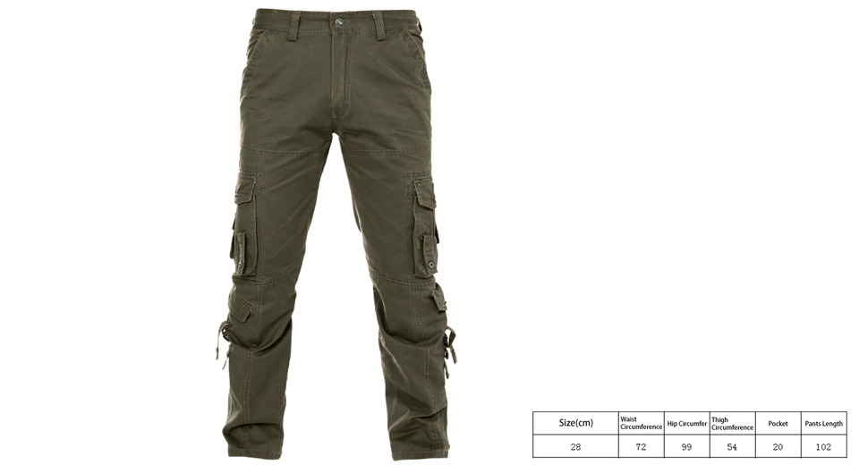 super cheap compares to full range of specifications compare price Men's Multi Pockets Casual Loose Cotton Cargo Pants (Size 28)