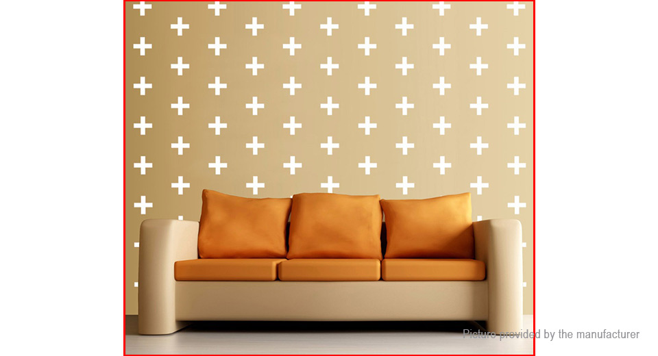 Cross Plus Styled Removable Wall Sticker Home Decor (60-Pack)