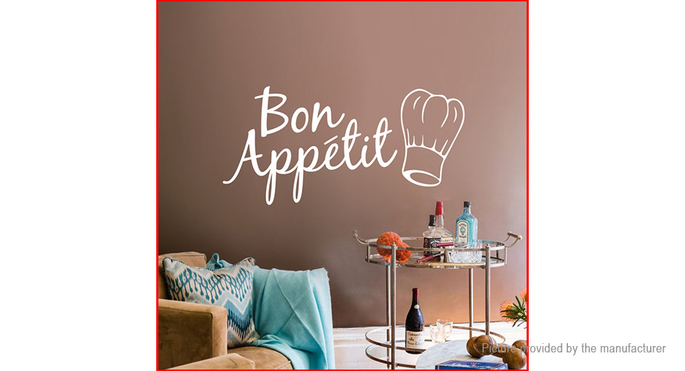 Bon Appetit Styled Removable Wall Sticker Home Decor