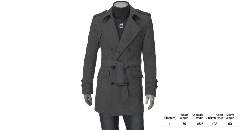 Product Image: men-s-epaulet-embellished-double-breasted-wool
