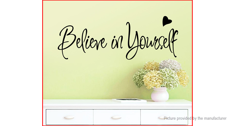 Creative Inspiring Quote Believe in yourself Styled Removable Wall Sticker Home Decor