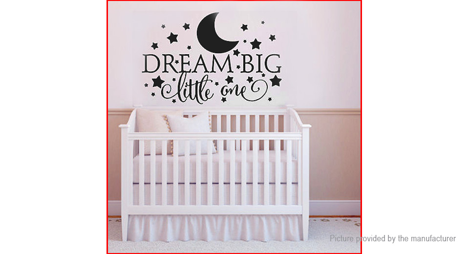 Dream Big Little One Styled Removable Wall Sticker Home Decor