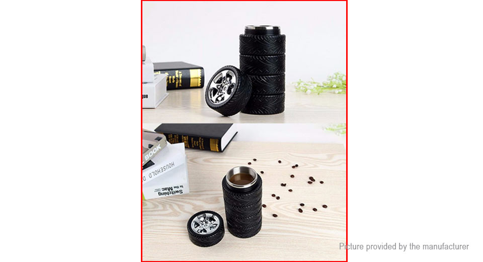 Tire Styled Stainless Steel Thermos Vacuum Insulation Cup Water Bottle (320ml)
