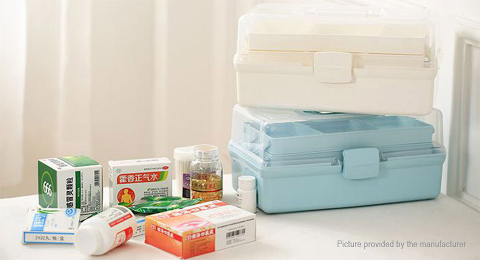 ... 7 Slots Household Medicine Pills First Aid Storage Box Case Organizer  (Size S) ...